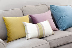 Pillows on couch Royalty Free Stock Photo