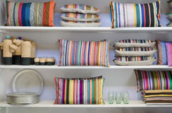 Pillows cupboard Royalty Free Stock Images