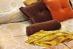 Pillows detail Stock Image