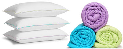 Pillows and duvets. Isolated royalty free stock photos