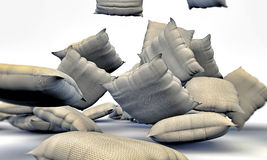 Pillows falling Stock Photography