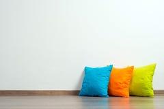 Pillows on floor Royalty Free Stock Photos