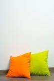 Pillows on floor Stock Photography