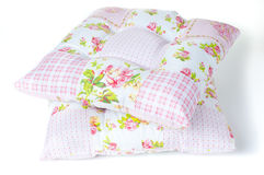 Pillows with floral patterns Royalty Free Stock Photos