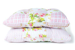 Pillows with floral patterns Stock Image