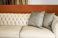 Pillows grey Royalty Free Stock Images