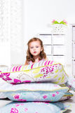 Pillows heap on the flloor Stock Photography