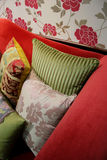 Pillows - home interiors Royalty Free Stock Photo
