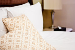 Pillows in Hotel bedroom Royalty Free Stock Images