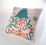 Pillows Or Christmas Pillows On A Background. Royalty Free Stock Photos