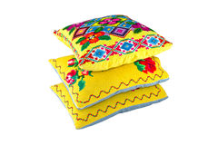 Pillows with a pattern Royalty Free Stock Photo