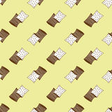 Pillows pattern Royalty Free Stock Photo