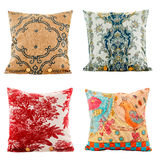 Pillows, pillows multi colored with patterns Royalty Free Stock Image