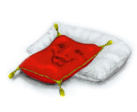 Pillows. red and white Royalty Free Stock Photography