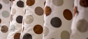 Pillows with round spots Royalty Free Stock Photos