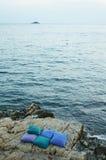 Pillows by the sea Stock Photos