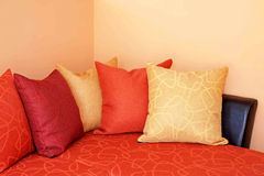Pillows on sofa Stock Photo