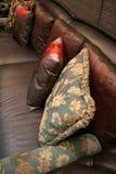 Pillows on a sofa - home interiors Royalty Free Stock Photos
