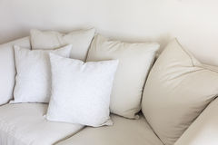 Pillows on sofa Room interior Decoration background Royalty Free Stock Photos