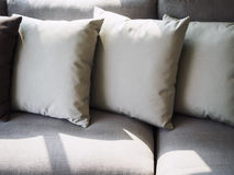 Pillows on sofa room interior decoration Stock Images
