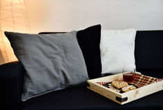 Pillows on a sofa Royalty Free Stock Image