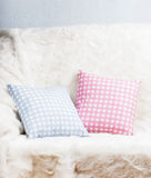 Pillows on the sofa Stock Images