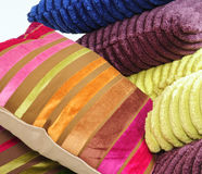 Pillows and towels Stock Photo