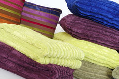 Pillows and towels Royalty Free Stock Photography