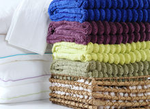 Pillows and towels Royalty Free Stock Photos