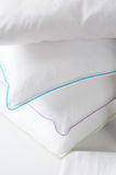 pillows white Royaltyfria Bilder