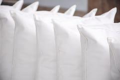 pillows white Arkivbilder
