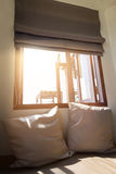 Pillows At The Window Stock Photography