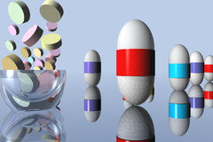 Pills. 3d computer generated Stock Photos