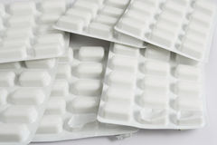 Pills. On the white background Stock Image