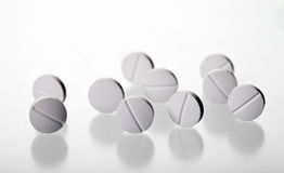 Pills. Isolated on a white background Stock Photos