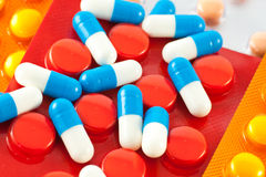 Pills. A lot of pills and medicines Royalty Free Stock Image