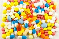 Pills. A lot of pills and medicines Stock Photos