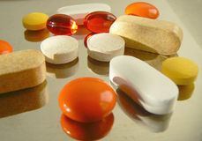 Pills. Of various colours ready to use Royalty Free Stock Images