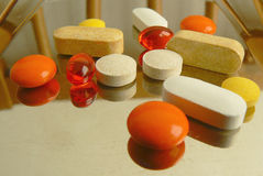 Pills. Of various colours ready to use Royalty Free Stock Image