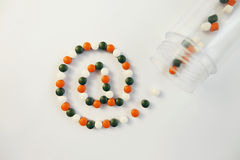 Pills. Internet sign made from pills. concept of online medicine stock photo