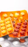 Pills. Colored pills on white background Royalty Free Stock Photo