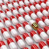Pills 3d background Stock Photos