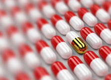 Free Pills 3d Background Royalty Free Stock Image - 7286296