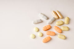 Pills from above Stock Photo