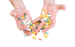 Pills abuse or painkillers concept Royalty Free Stock Image