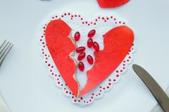 Pills against love and broken heart. Royalty Free Stock Image