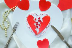 Pills against love and broken heart. Royalty Free Stock Images