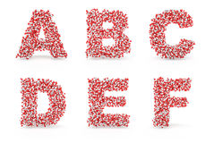 Pills alphabet A B C D E F Royalty Free Stock Photo