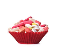 Pills as a cookie Royalty Free Stock Photos