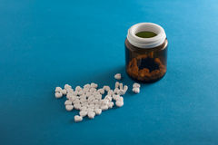 Pills as heart Stock Photography